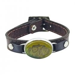 دستبند مردانه سلین کالا مدل عقیق خطی کد ce-As114