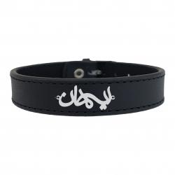 دستبند نقره مردانه ترمه ۱ مدل ایمان کد mdcm0069