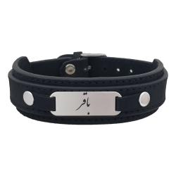 دستبند نقره مردانه ترمه ۱ مدل باقر کد Dcsf0033
