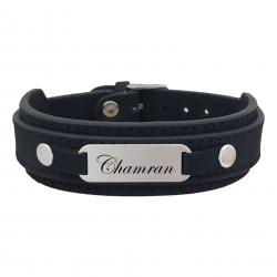 دستبند نقره مردانه ترمه ۱ مدل چمران کد 128 DCN