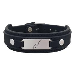 دستبند نقره مردانه ترمه ۱ مدل کریم کد Dcsf0023