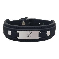 دستبند نقره مردانه ترمه ۱ مدل مجتبی کد Dcsf0272