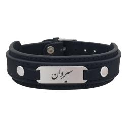 دستبند نقره مردانه ترمه ۱ مدل سیروان کد Dcsf0108
