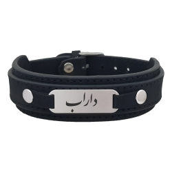 دستبند نقره مردانه ترمه ۱ مدلداراب کد Dcsf0155
