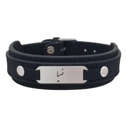 دستبند نقره مردانه ترمه ۱ مدل ضیا کد Dcsf0403