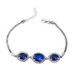 دستبند نقره زنانه بازرگانی میلادی کد DP_362