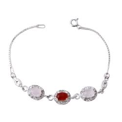 دستبند نقره زنانه بازرگانی میلادی کد DP_372