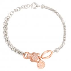 دستبند نقره زنانه مدل ببر کد B3282