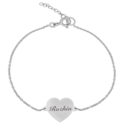 دستبند نقره زنانه ترمه ۱ مدل روژین کد DN 1089