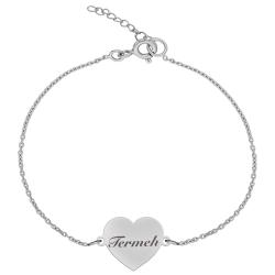 دستبند نقره زنانه ترمه ۱ مدل ترمه  کد DN 1057