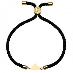 دستبند طلا 18 عیار دخترانه کرابو طرح ابر مدل Krd1751