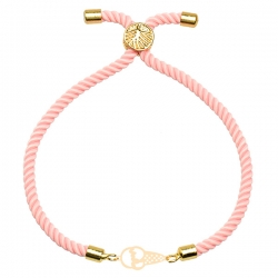دستبند طلا 18 عیار دخترانه کرابو طرح بستنی مدل Krd1720