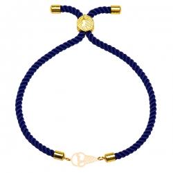 دستبند طلا 18 عیار دخترانه کرابو طرح بستنی مدل Krd1725