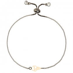 دستبند طلا 18 عیار دخترانه کرابو طرح بستنی مدل Krd1732