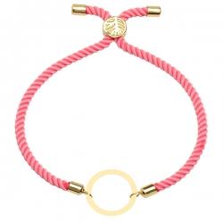 دستبند طلا 18 عیار دخترانه کرابو طرح دایره مدل Krd1576