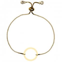 دستبند طلا 18 عیار دخترانه کرابو طرح دایره مدل Krd1587