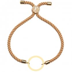دستبند طلا 18 عیار دخترانه کرابو طرح دایره مدل Krd1596