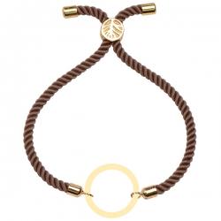 دستبند طلا 18 عیار دخترانه کرابو طرح دایره مدل Krd1597