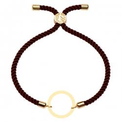 دستبند طلا 18 عیار دخترانه کرابو طرح دایره مدل Krd1598