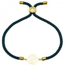 دستبند طلا 18 عیار دخترانه کرابو طرح گل رز مدل Krd1484