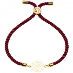 دستبند طلا 18 عیار دخترانه کرابو طرح گل رز مدل Krd1498