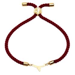 دستبند طلا 18 عیار دخترانه کرابو طرح حرف پ مدل Krd1423