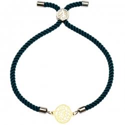 دستبند طلا 18 عیار دخترانه کرابو طرح نقش مدل Krd1240
