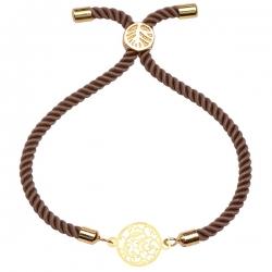 دستبند طلا 18 عیار دخترانه کرابو طرح نقش مدل Krd1245