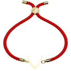 دستبند طلا 18 عیار دخترانه کرابو طرح شاخ گوزن مدل Krd1453