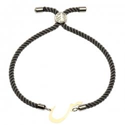 دستبند طلا 18 عیار دخترانه کرابو طرح س مدل Krd1517