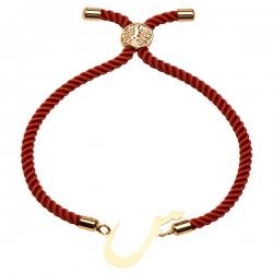 دستبند طلا 18 عیار دخترانه کرابو طرح س مدل Krd1531