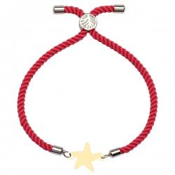 دستبند طلا 18 عیار دخترانه کرابو طرح ستاره مدل Krd1613