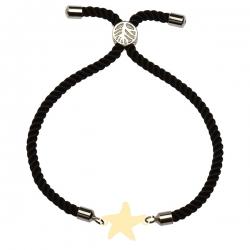دستبند طلا 18 عیار دخترانه کرابو طرح ستاره مدل Krd1625