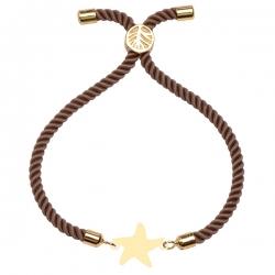 دستبند طلا 18 عیار دخترانه کرابو طرح ستاره مدل Krd1632