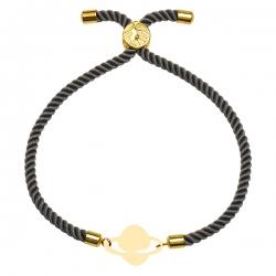 دستبند طلا 18 عیار دخترانه کرابو طرح زحل مدل Krd1782