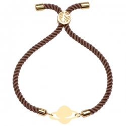 دستبند طلا 18 عیار دخترانه کرابو طرح زحل مدل Krd1806