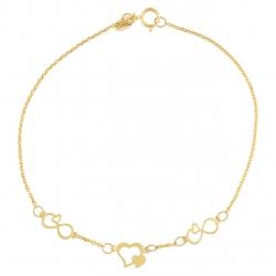 دستبند طلا 18 عیار ماهک مدل MB0363