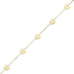 دستبند طلا 18 عیار نیکان زر مدل GB107