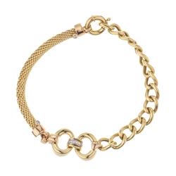 دستبند طلا 18 عیار زنانه آلند مدل KHD39