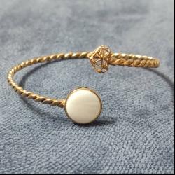 دستبند طلا 18 عیار زنانه قیراط مدل GH62