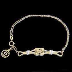 دستبند طلا 18 عیار زنانه کد 67143