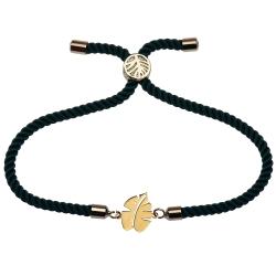 دستبند طلا 18 عیار زنانه کرابو طرح برگ مدل Kr1326