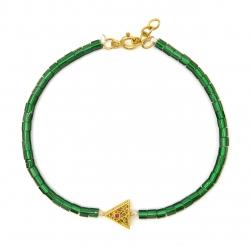 دستبند طلا 18 عیار زنانه مانچو کد bfgs014