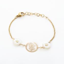 دستبند طلا 18 عیار زنانه مدل NM70