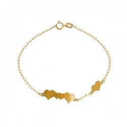 دستبند طلا 18 عیار زنانه عدنان مدل  قلب J55