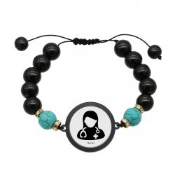 دستبند زنانه ناکسیگو طرح پزشک کد BR3984