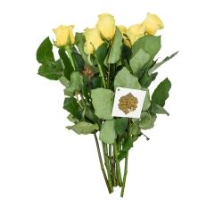 دسته گل رز هلندی زرد هیمان کد Ro09