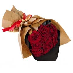 دسته گل سرخ رز هلندی گل گیفت کد GG0017