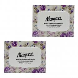 دستمال مرطوب ماکسی کول مدل Make-Up-1 مجموعه 2 عددی