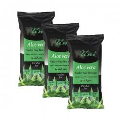 دستمال مرطوب یونی لد مدل Aloe Vera مجموعه 3 عددی